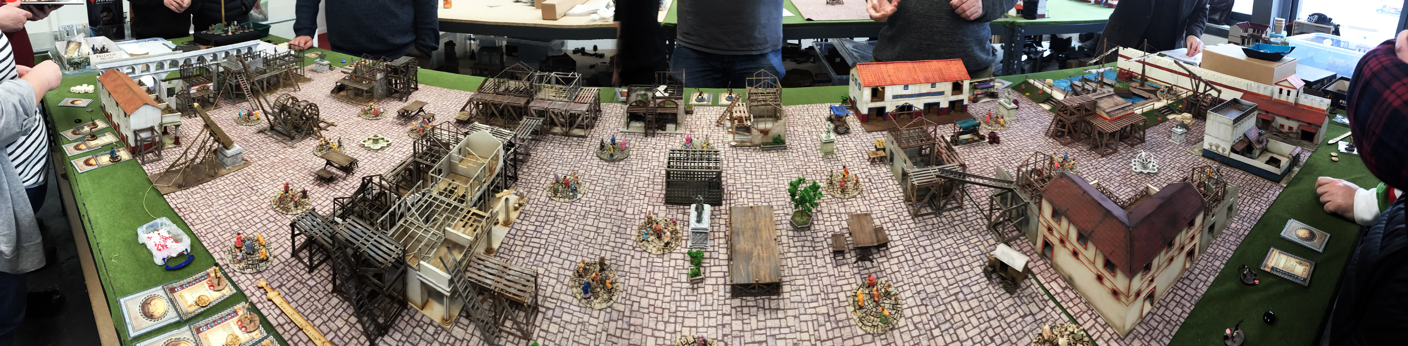 The incredible layout on which we played our final game